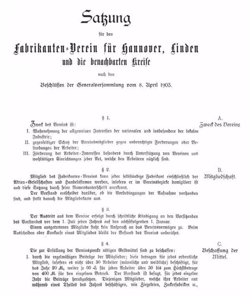 1903–1924 > Industrie-Club Hannover e.V.